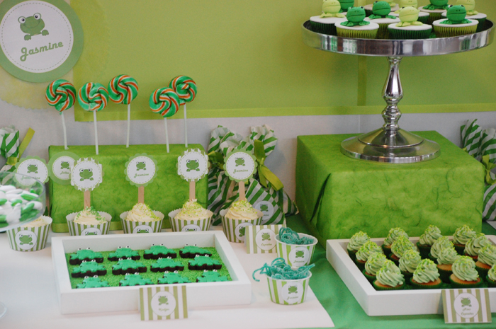 Frog Dessert Table Frog Inspired Guest Dessert Feature