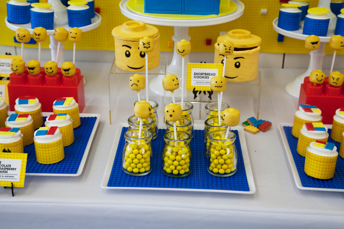 Lego Party Cakepops Lots of Legos Guest Dessert Feature
