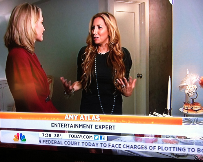 today amyatlas1 Tips for Throwing a Downton Abbey Premiere Party {+ Today Show and E! News Videos}