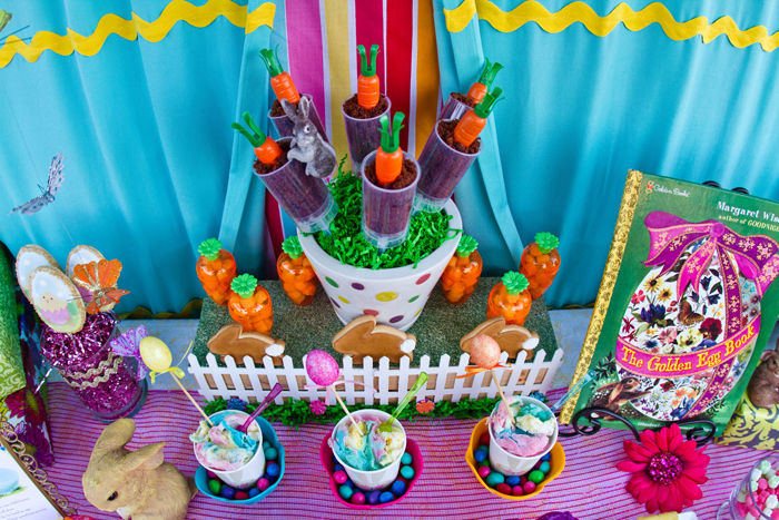 Pretty Bright Easter Dessert Table
