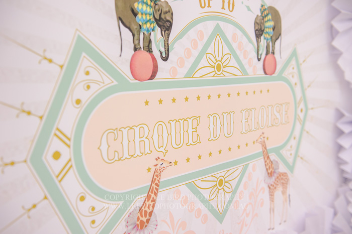 Circus Themed Signage Pretty Peach & Green Circus Guest Dessert Feature