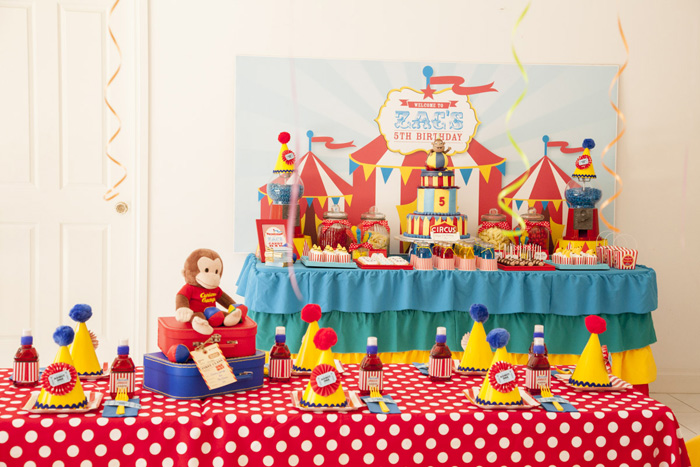 Curious George Inspired Kids Party Curious George Circus Guest Dessert Feature