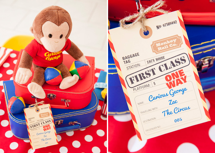 Curious George Party props Curious George Circus Guest Dessert Feature