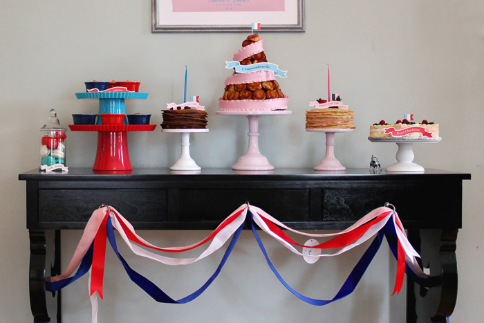 French Themed Dessert Table