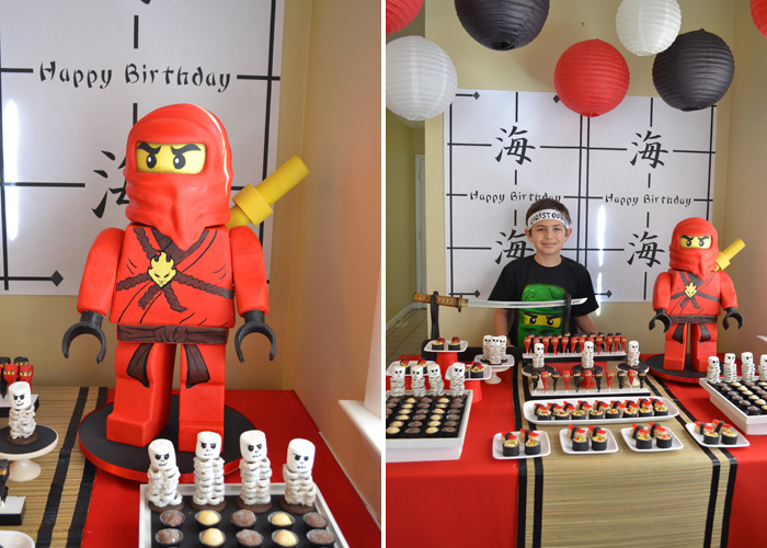 NInja Party Cake Ninjago Guest Dessert Feature