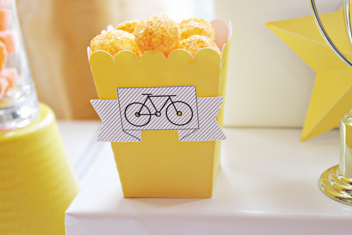 Popcorn Boxes Bike Racing Birthday Party Guest Dessert Feature
