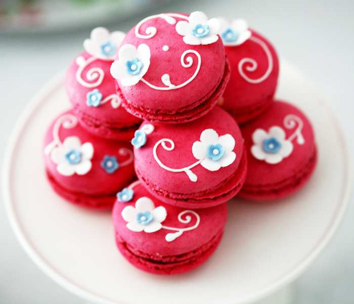 Red Macarons Spring Guest Dessert Feature