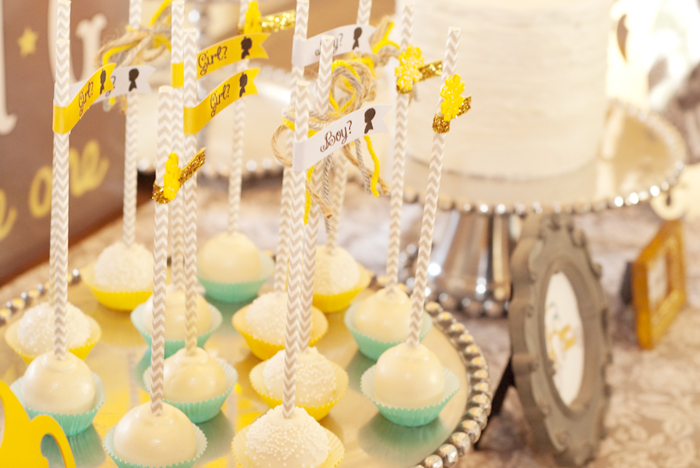 Cake Pops Gender Reveal Guest Dessert Feature