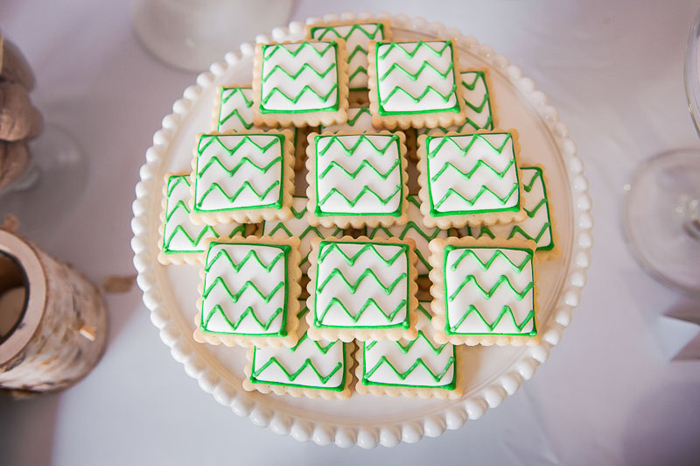 Chevron Sugar Cookies Birthday Guest Dessert Feature