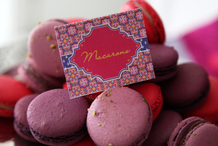Macarons1 Moroccan Themed Guest Dessert Feature