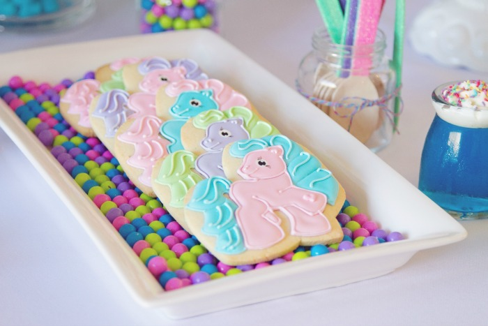 My Little Pony Cookies Colorful Guest Dessert Feature