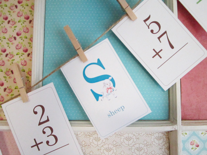 Flash Card Bunting