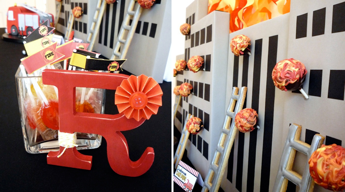 Cake Pop Fireballs Five Alarm Guest Dessert Feature {& Tissue Fire Backdrop Tutorial}