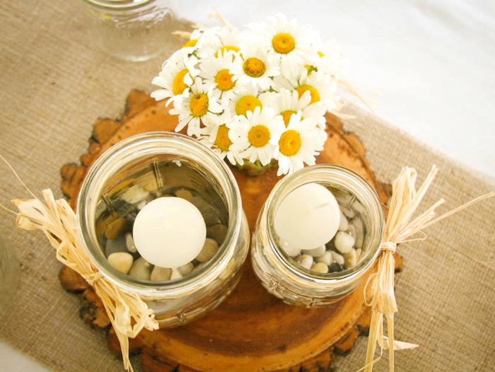Flowers Rustic Summer Wedding Guest Dessert Feature