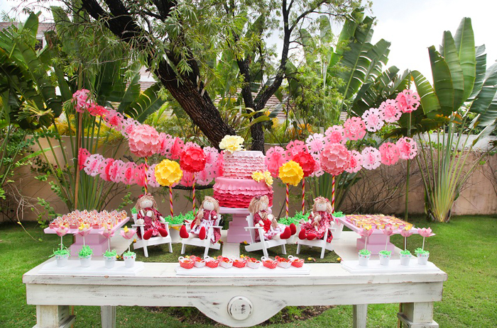 Rag Doll Dessert Table Rag Doll Guest Dessert Feature