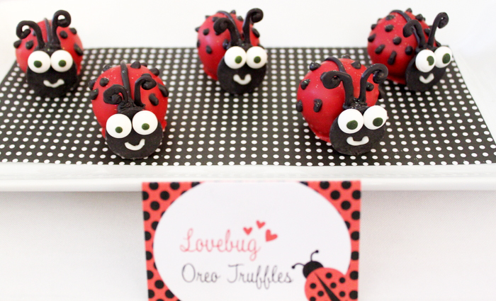 Lady Bug Inspired Party | Raspberry Oreo Truffles