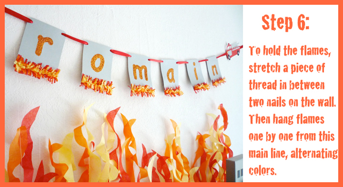 Step 6 Fire Tutorial Five Alarm Guest Dessert Feature {& Tissue Fire Backdrop Tutorial}
