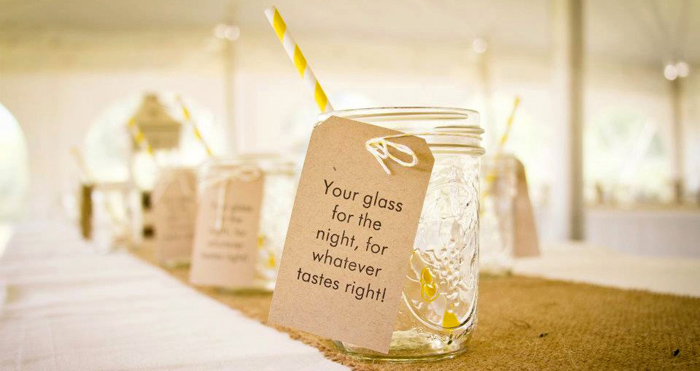 Yellow Stripey Straws1 Rustic Summer Wedding Guest Dessert Feature
