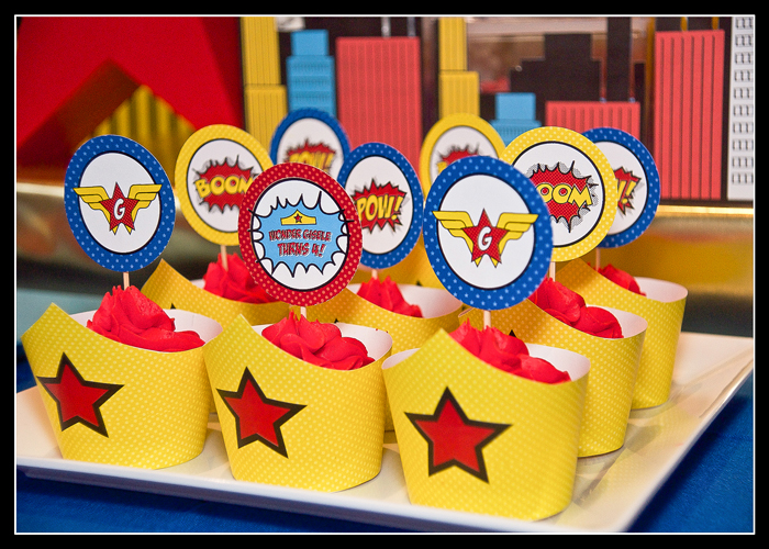 Superhero Cupcakes Wonder Woman Guest Dessert Feature