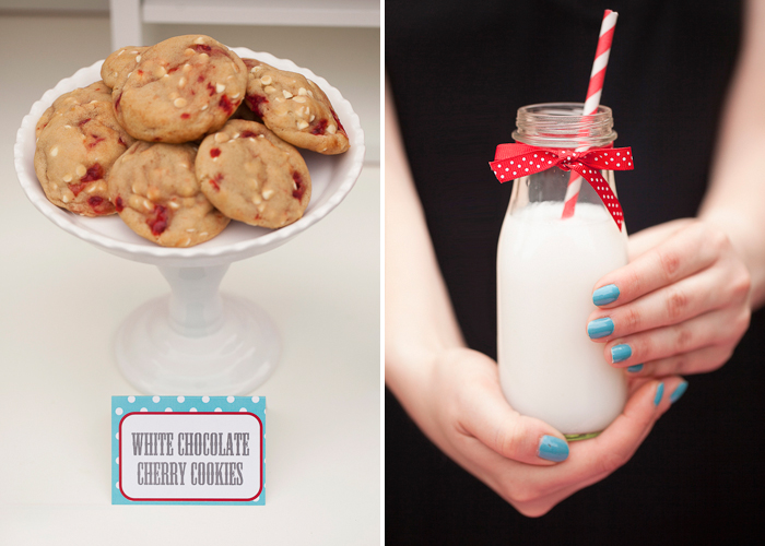 White Chocolate Cherry Cookies Got Milk? Guest Dessert Feature