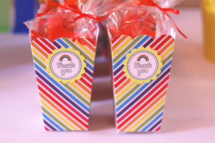 rainbow goody bags Rainbow Guest Dessert Feature