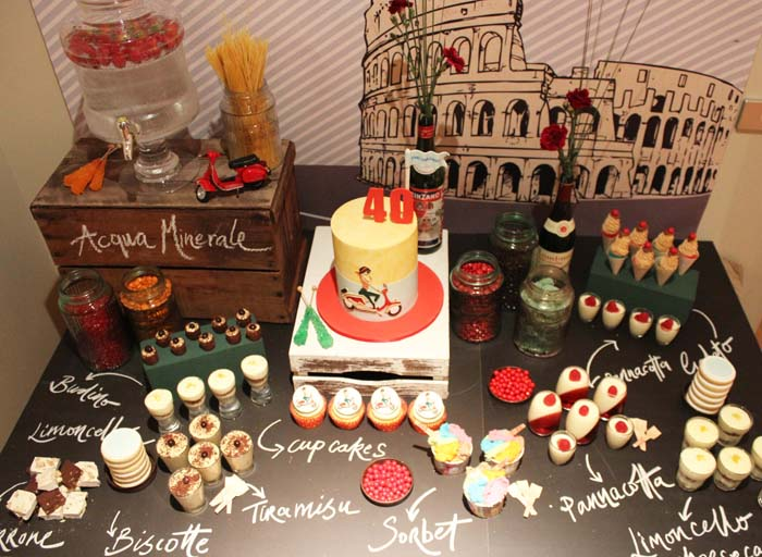 italy dessert table Italian Vespa Guest Dessert Feature
