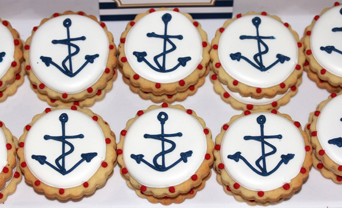 Anchor Sugar Cookies Anchors Aweigh Guest Dessert Table