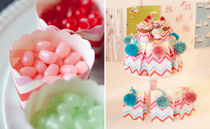 Chevron Candy Cups Crafting Party Guest Dessert Feature