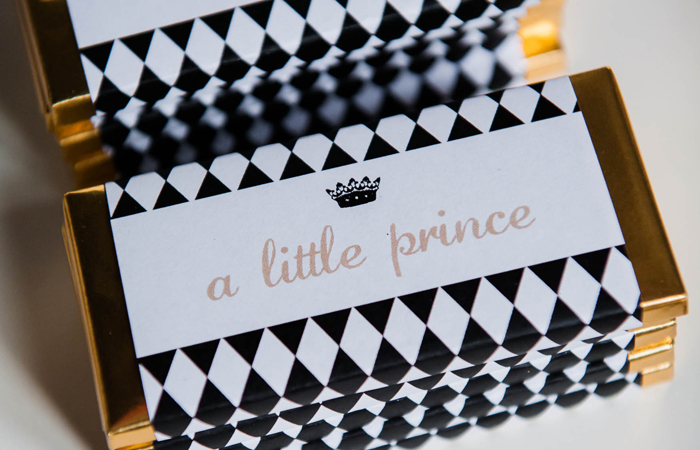 Personalized Chocolate Bars Party Fit For A Prince Guest Dessert Feature