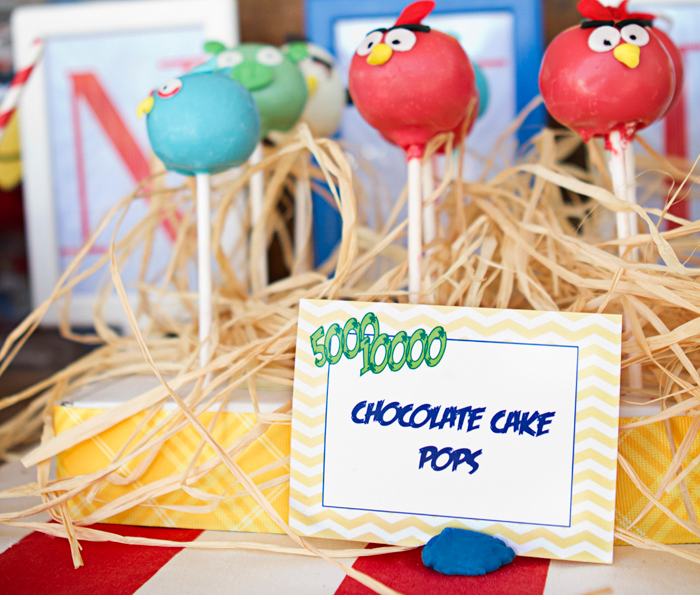 Angry Birds Birthday Party | Cake Pops