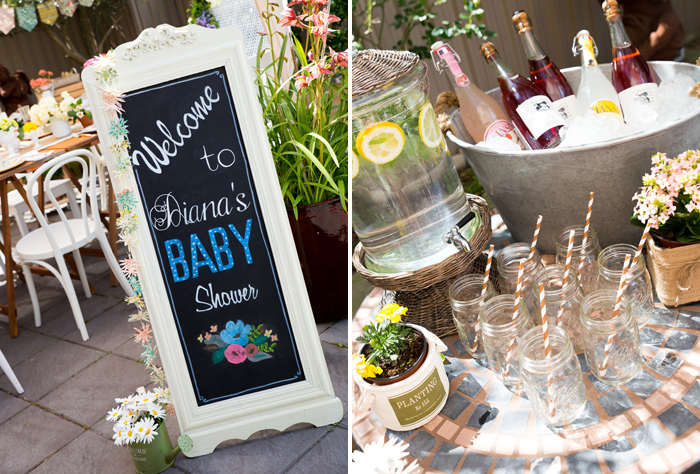 Baby Shower Signage Beautiful Garden Baby Shower Guest Dessert Feature