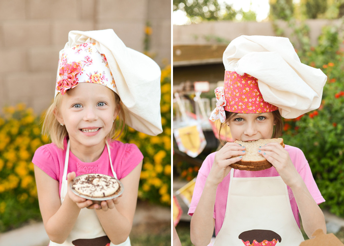 Baking Party Girls Floral Baking Party Guest Dessert Feature