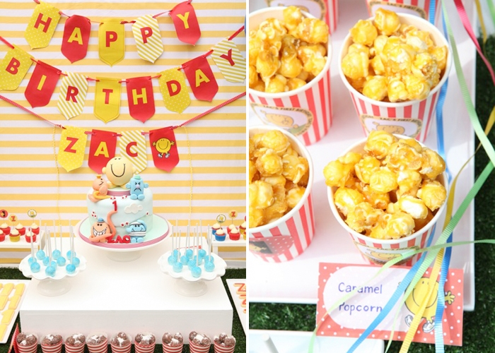 Mr. Man Dessert Table | Caramel Popcorn