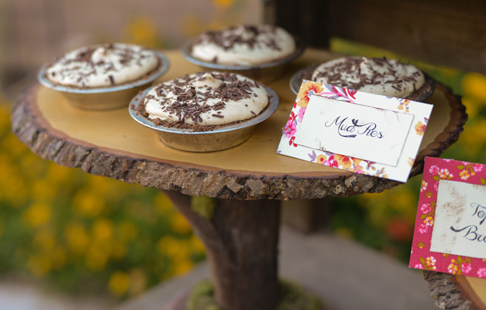 Mud Pies Floral Baking Party Guest Dessert Feature
