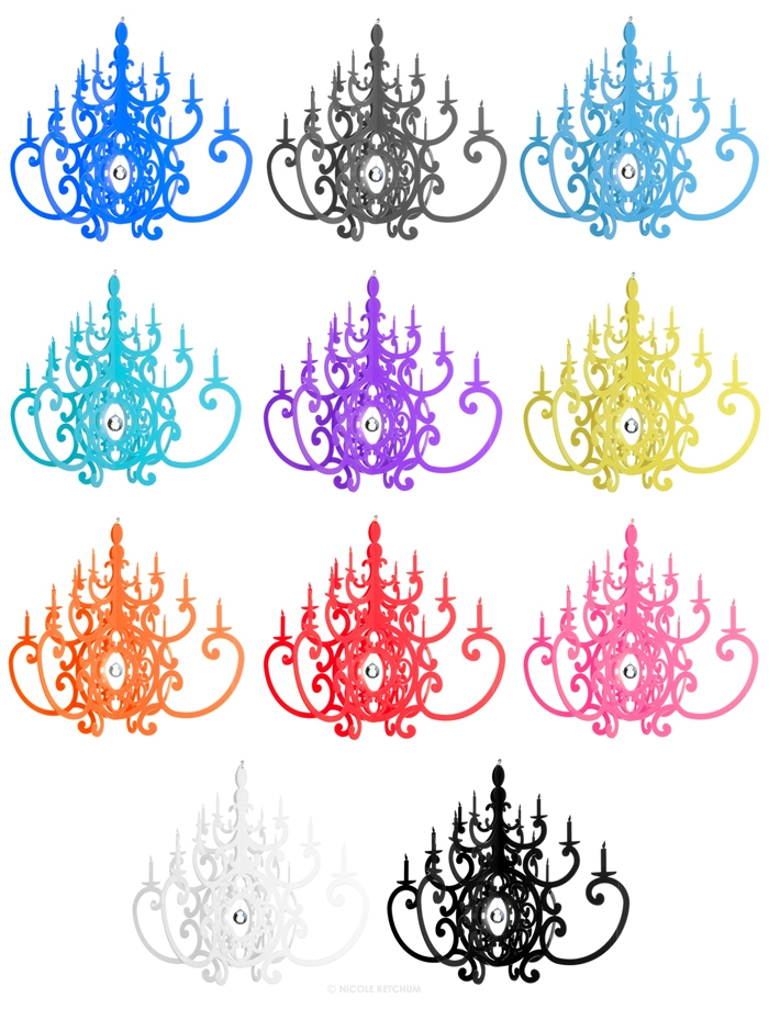 Nicole Ketchum Fancy Great Find: Acrylic Chandeliers