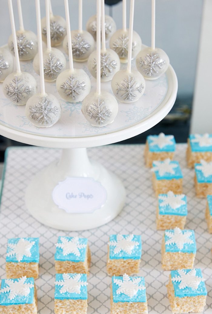 Rice Crispy Treats Winter Wonderland Party