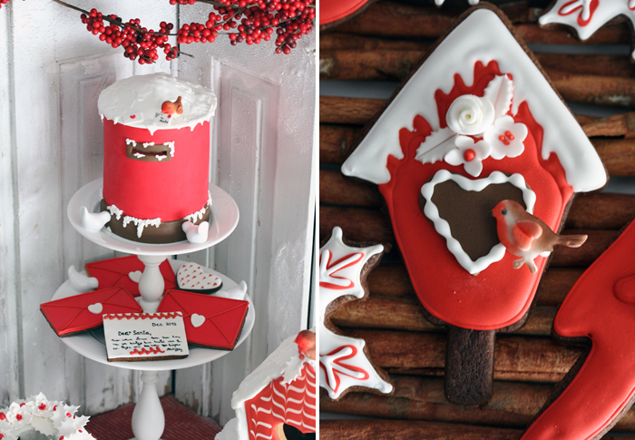 Santa Letter Sugar Cookies Red Holiday Guest Dessert Feature