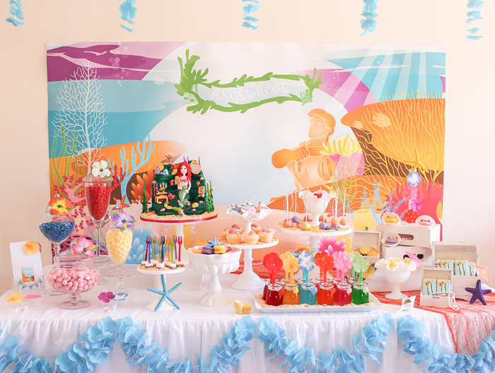 mermaid-dessert-table