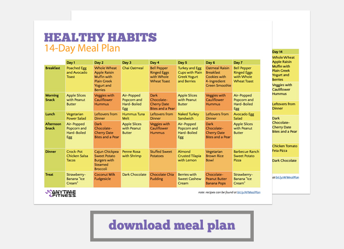 Create Healthy Habits With Our 14-Day Meal Plan - weekly healthy meal plan