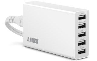 最大5Aまで出力できるAnker 25W 5ポート USB急速充電器を使ってみた