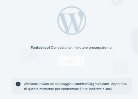 crea sito wordpress