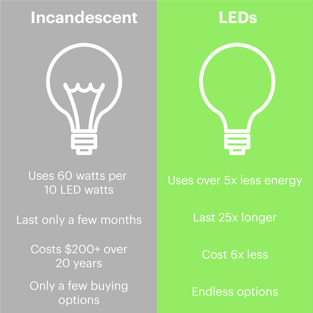 Buy Lightbulbs Led Vs Regular Lightbulbs Do They Really Make A Difference