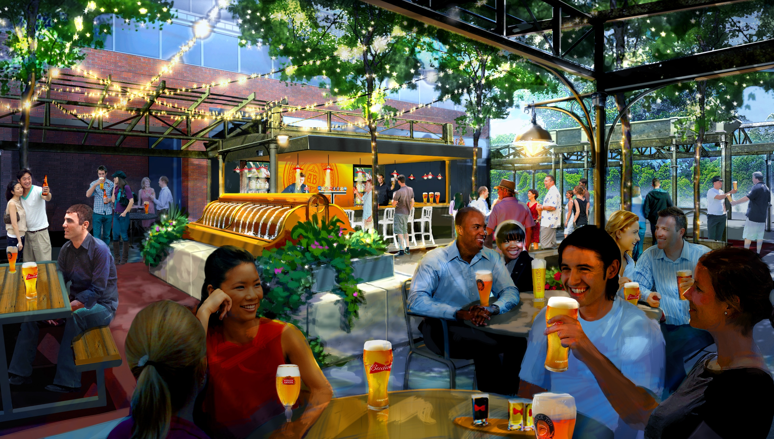 Beer Garten Anheuser Busch Taps Plans For St Louis Biergarten
