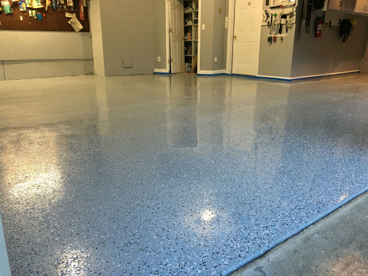 Garage Floor Paint Chips Armor Chip Garage Epoxy Flooring Kit