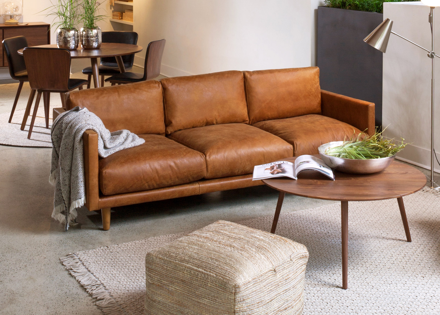Brown Real Leather Couch How To Choose And Care For Leather Furniture Articulate