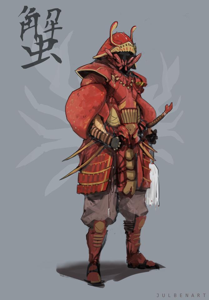 Another Crab-Like Samurai