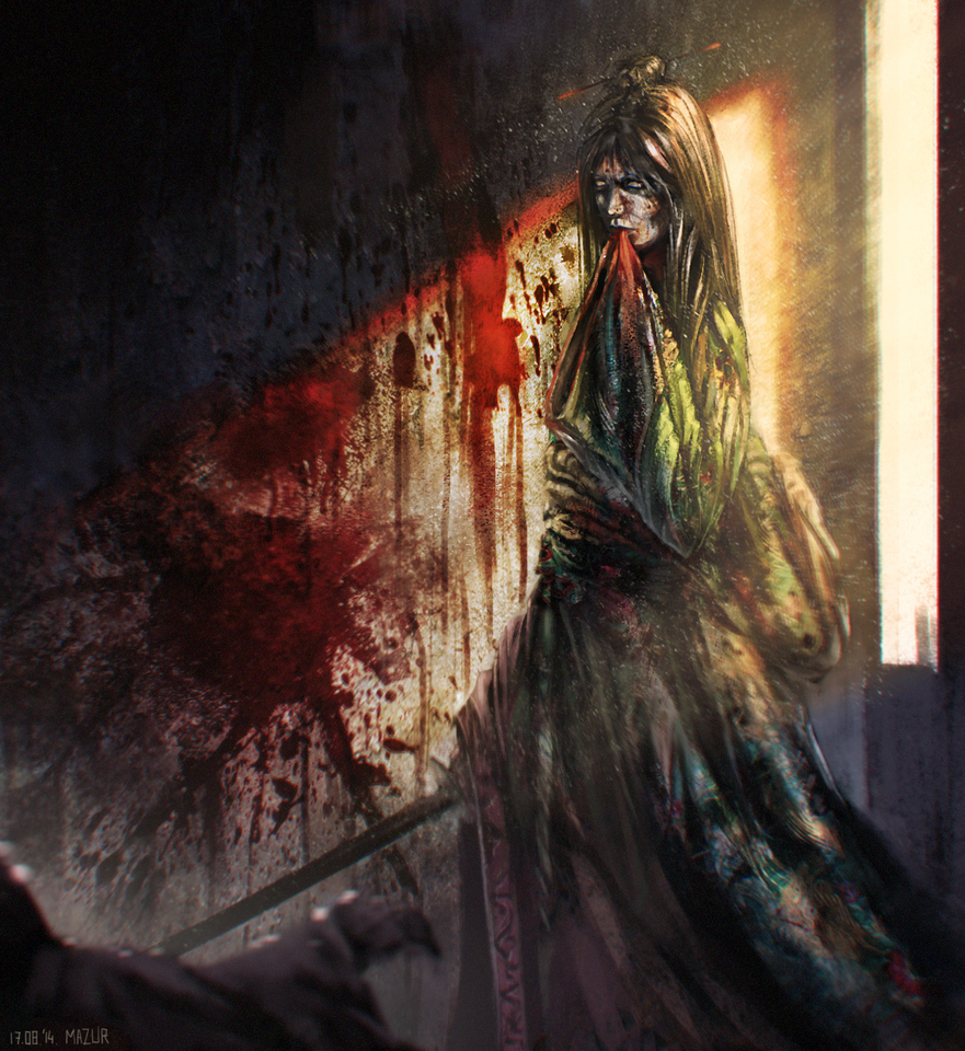 Stained Dress by Marek Mazur