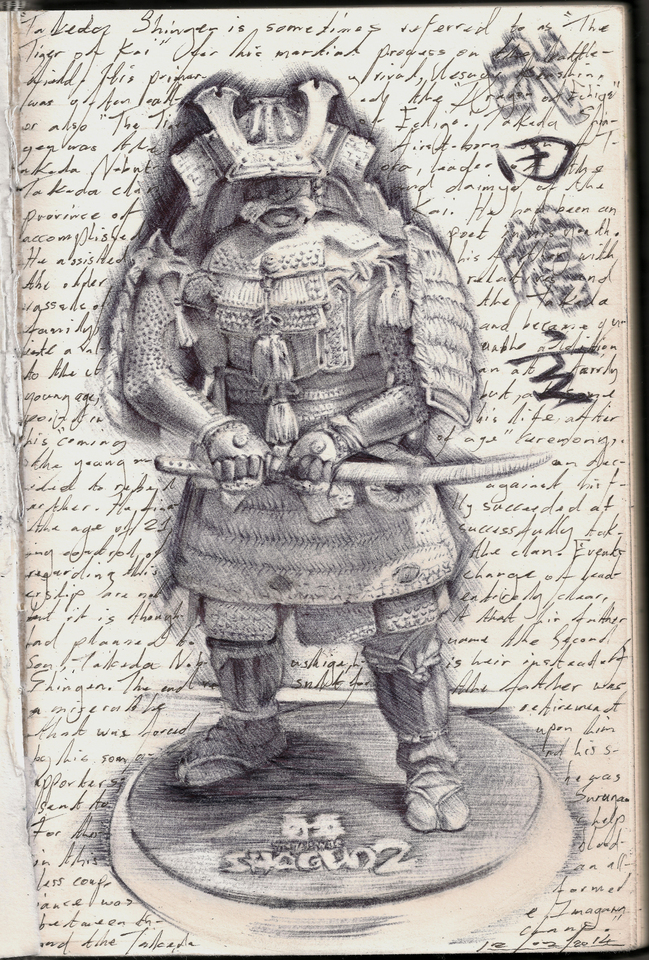 Samurai Observational Drawing by Jay Carpenter