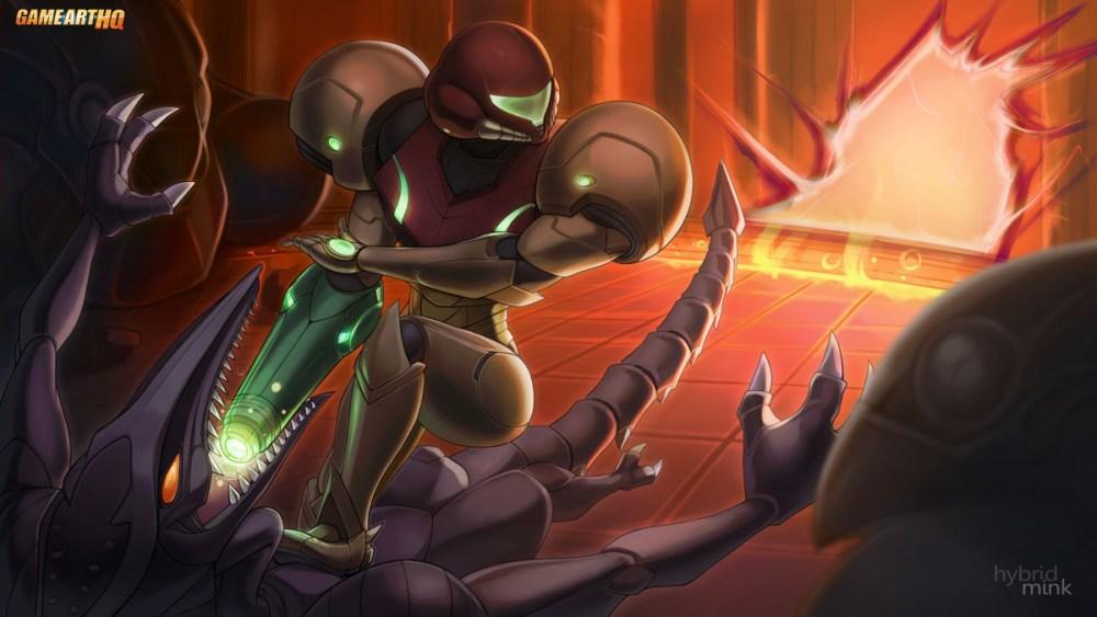 "Metroid Art by Nick ""Hybridmink"" Savino"
