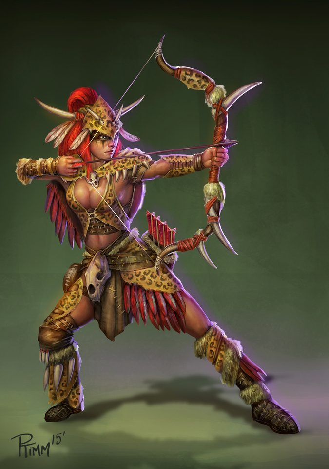 Artemis Primal Huntress Smite Skin by Andy Timm